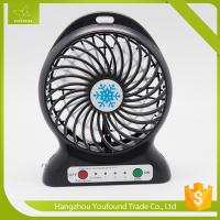 Best BS-5600 Battery Operated Mini Fan USB Cord Charging DC Small Plastic LED Table Fan wholesale