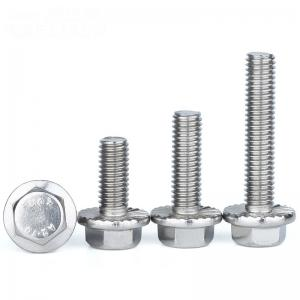 China Welding DIN 6921 A2 M8x20 Stainless Steel Flange Bolt on sale