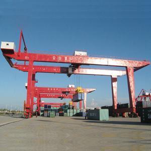 Portable Mobile Container Gantry Crane / 30.5T 60T Cargo Container Crane