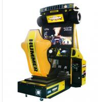 Quality Hummer Racing Game Machine With Beautiful Cartoon Appearance / Plastic Light Box for sale