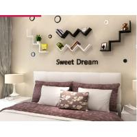 Quality English letters decoration Personalized Wooden Name Plaques Word Letters 3D Wall sticker Door Art Wedding Photo Props for sale