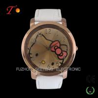 Colorful PU leather strap watches for young girls and cute hello kitty  dial watch for sell