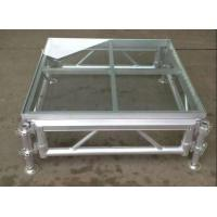 Quality 1.22*1.22m High Hardness 18mm Acrylic Stage Platform 380KG/square Meter for sale