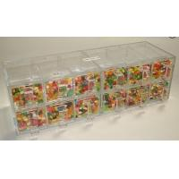 China Transparent 12 Drawers Acrylic Candy Display Cases Counter OEM on sale
