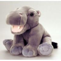 Quality Sitting Pose Grey Hippo Plush Toys for sale
