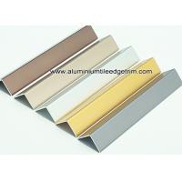 China Durable Anodized Brushed Aluminium Corner Protectors For Walls 1.5mm Thickness on sale