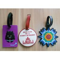 Quality Promotional Gift Soft Pvc Luggage Tag With Embossed And Colored Logo for sale