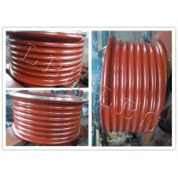 Quality Red Lebus Grooved Drum Without Flanges / Cable Winch Drum For Lifting for sale