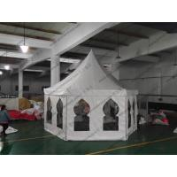 Quality Aluminum Waterproof Pagoda Party Tent , High Peak Tents With Muslim Windows for sale