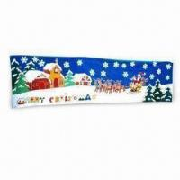 China Christmas Banner with Heat Transfer and Digital Printing on sale