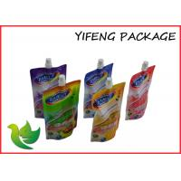 China Spout Liquid Soap Plastic Packaging Bag Durable 300ml Customized Logo on sale