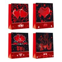 Quality Customized Luxury Shopping Glossy Paper Bags for Valentine's Day eco-friendly for sale
