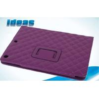 Quality Box Stitch Apple iPad Leather Cases Purple iPad Air5 Stand Tablet Case for sale