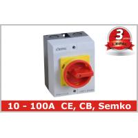 IP65 32A Three Pole Isolator Switch / Industrial Rotary On Off Switch