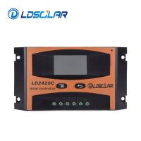 China 20A 12V/24V Voltage Automatic PWM Solar Charge Controller With LCD Portable Solar System on sale