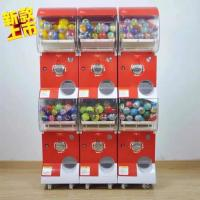 Quality Candy Dispenser Bounce Ball Gum Capsule Vending Machines / Prize Machine Games for sale
