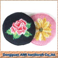 China AIMI Table dinner ware round shape needlepoint cup mat tea cup coaster set on sale