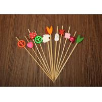 Quality Barbecue Decorative Bamboo Skewers , Bamboo Cocktail Sticks Eco Friendly for sale