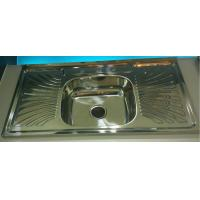 Quality factory liquidation North American Hot Sale WY10050C Layon  Kitchen sink with drainboard single bowl for sale