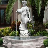 Quality Stone carving statue fountain white marble sculpture water fountains ,stone carving supplier for sale
