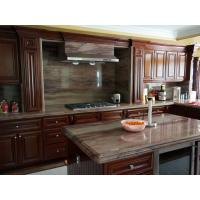 Best Classic Villa Cherry Wood Kitchen Cabinets With Stainless Steel Appliances wholesale
