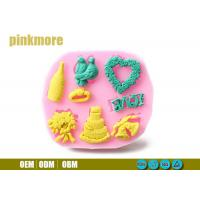 Best Bird Ring Heart Shaped Silicone Cake Moulds , Fondant Molds For Wedding Cakes wholesale