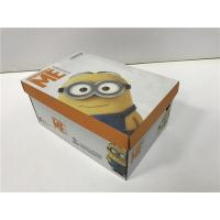 Quality BGM09 Cardboard Shoe Boxes Golden / Silver Hot - Stamping Customized Logo for sale