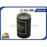Best Custom Logo Imprint Plastic Cap Paper Can Packaging , Cardboard Tube Containers wholesale