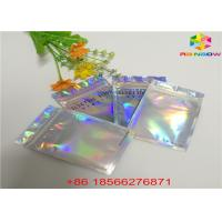 Quality Matte Finished Hologram Foil Zip Lock Bags Face Mask Cosmetic Sample Flat Pouch for sale