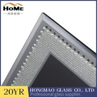Quality Table Top Display Glitter Glass Photo Frame 180*230*15MM With Matte Button for sale