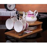 Buy cheap Fashion coffee cup set fashion ceramic fashion cup porcelain tea set cup set 4 spoons from wholesalers