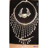 Quality European Standard Charming Diamond Jewelry Crystal Necklace and Earring Set for sale