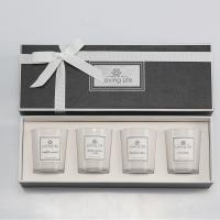 China Birthday Gift Home Decoration Scented Soy Wax Candle Set With Luxury Ribbon Box on sale
