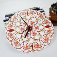 Quality Beautiful Flower Wall Decoration Acrylic Art Wall Clock LY-050  for sale