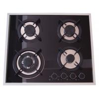 Quality Built In Installation Home Gas Stove 8mm Tempered Glass Panel Stainless Steel Surface for sale