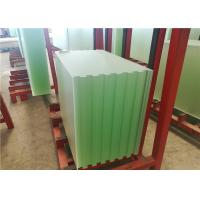Buy cheap Patterned Solar PV Glass , Ultra White Low Iron Toughened Glass 91.7% Transmitta from wholesalers