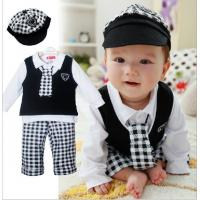 China baby boy set gentleman five Pieces baby clothes suit with hat on sale