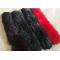 China Dyed Genuine Raccoon Black Real Fur Collar Real Warm For Men Jacket / Coat on sale