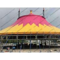 Quality Special Customized PVC Event Tent , Red And Yellow PVC Tarp Tent Roof Cover With Chairs for sale