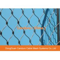 Quality Flexible Stainless Steel Wire Cable Green Construction Safety Net for sale
