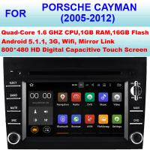 Android 5.1.1 Porsche Cayman Audio 3G WiFi Car DVD Player GPS 2005 - 2012