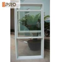 Quality Heat Insulation Aluminum Sash Windows White Color With Double Tempered Glass for sale