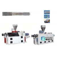 Buy Industrial Plastic Sheet Extrusion Machine Conical Twin Screw Extruder Machine at wholesale prices
