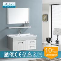 China wall mounted stainless steel bathroom mirror cabinet on sale
