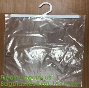 Quality self adhesive zipper hanger hook plastic bags for garment,Type hanger hook plastic bag,zipper bag manufacturers,Hook Zip for sale