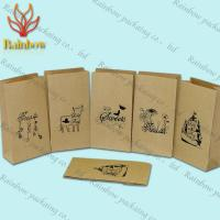 Best Eco-friendly Stand Up Brown Kraft Customized Paper Bags For Shopping wholesale