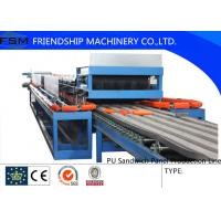 Quality Automatic Continuous PU Sandwich Panel Production Line For 25mm - 100mm Thickness PU Foam for sale