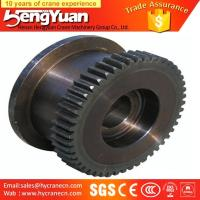 Quality Electric double girder forged bridge travelling crane bridge wheels for sale