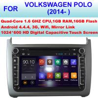 Quality 8 Inch Volkswagen DVD GPS Player 2014 - 2016 VW Polo Navigation System With Bluetooth for sale