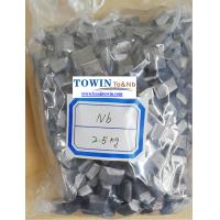 Buy cheap Additive Niobium Metal Purity 99.95%min For Superalloy Size 3-10mm Small Pieces from wholesalers